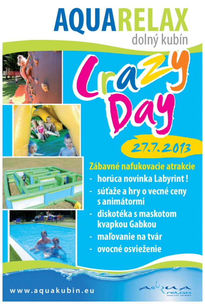 ", Aquarelax Dolný Kubín ""Crazy Day"""