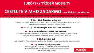 , V rámci Európskeho týždňa mobility môžete v martinskej MHD cestovať zadarmo. Stačí predložiť vodičský preukaz