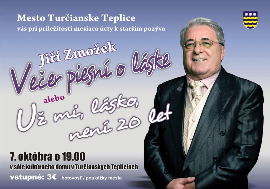 , Večer piesní o láske s Jiřím Zmožkom V Turčianskych Tepliciach