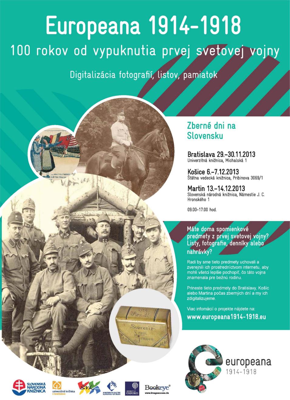, Europeana 1914 – 1918 dorazila do Martina