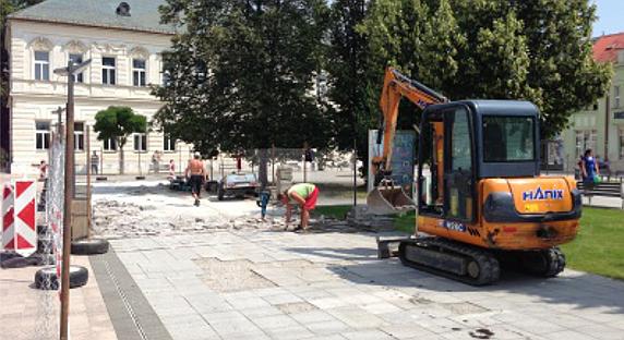 , Rekonštrukcia pešej zóny v Martine finišuje