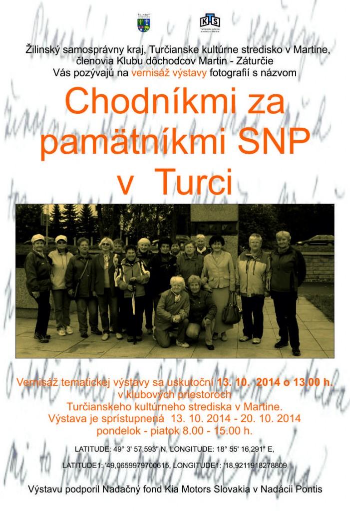 , Chodníkmi za pamätníkmi SNP v Turci – krst publikácie a vernisáž