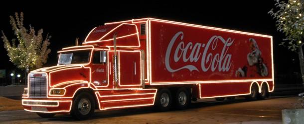 , Vianočný Coca-Cola kamión v Martine