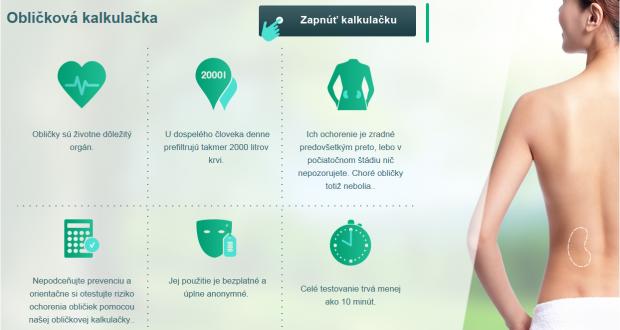 , Obličková kalkulačka zisťuje stav obličiek Slovákov i Čechov