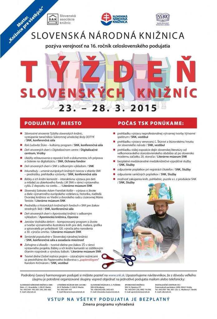 , Týždeň slovenských knižníc 2015
