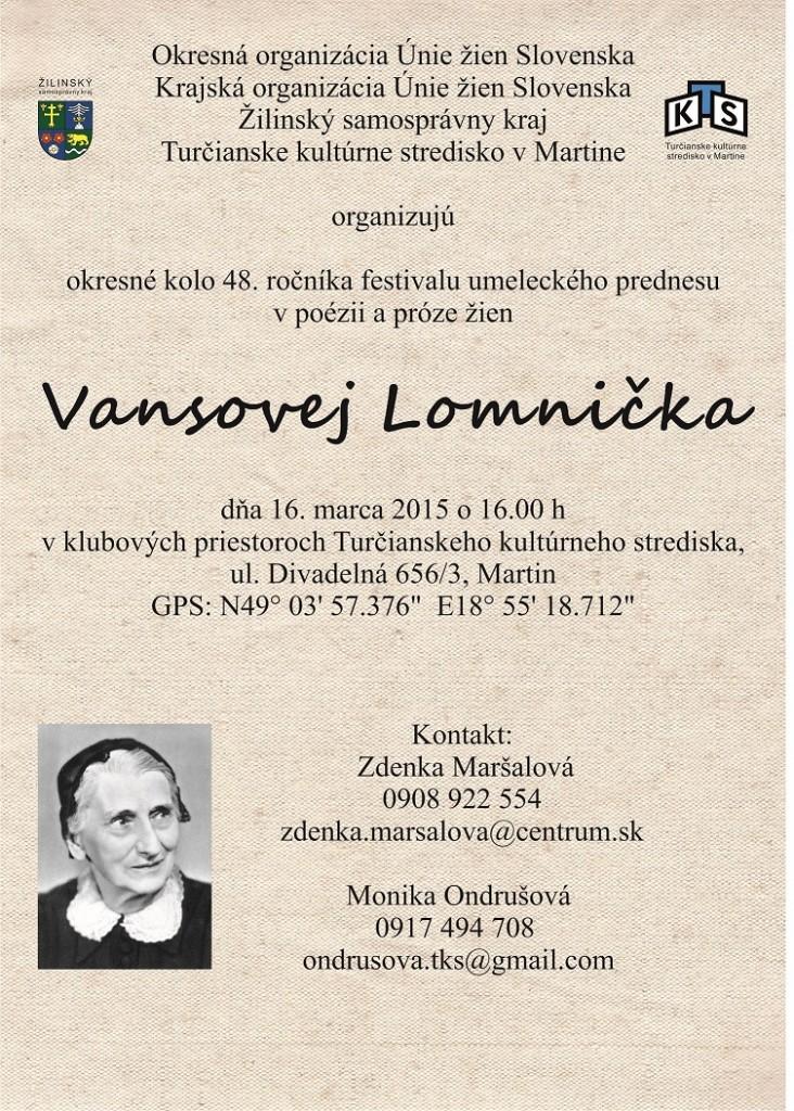 , Vansovej Lomnička