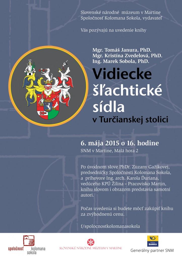 , Prezentácia knihy Vidiecke šľachtické sídla v Turčianskej stolici (6. mája)
