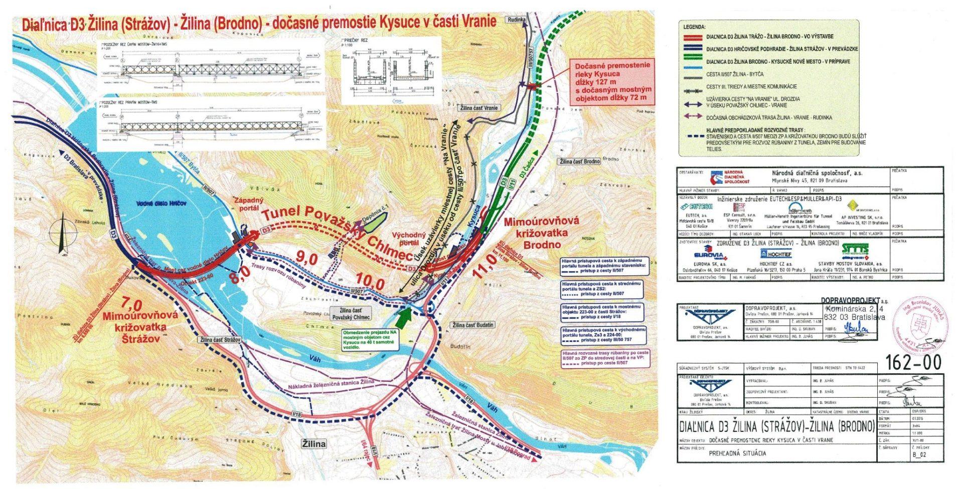 , Vo Vraní vznikne dočasný most pre havarijný stav prístupovej cesty