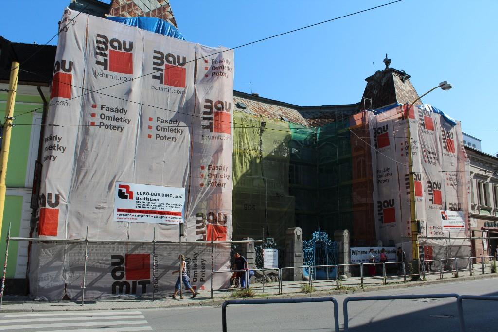 , Rekonštrukcia Rosenfeldovho paláca v Žiline pokračuje podľa plánu
