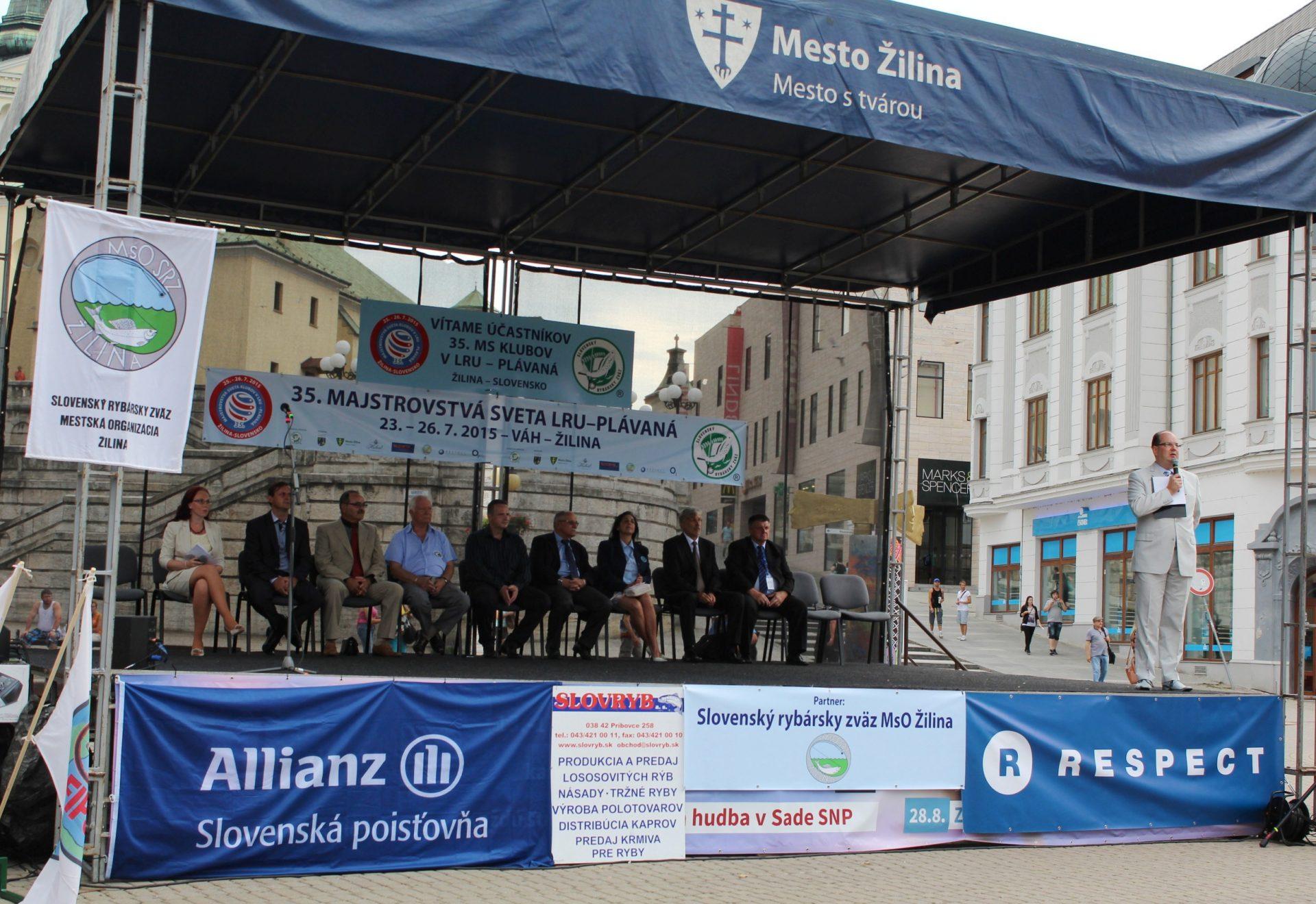 , Majstrovstvá sveta v love rýb udicou boli zahájené u nás v Žiline