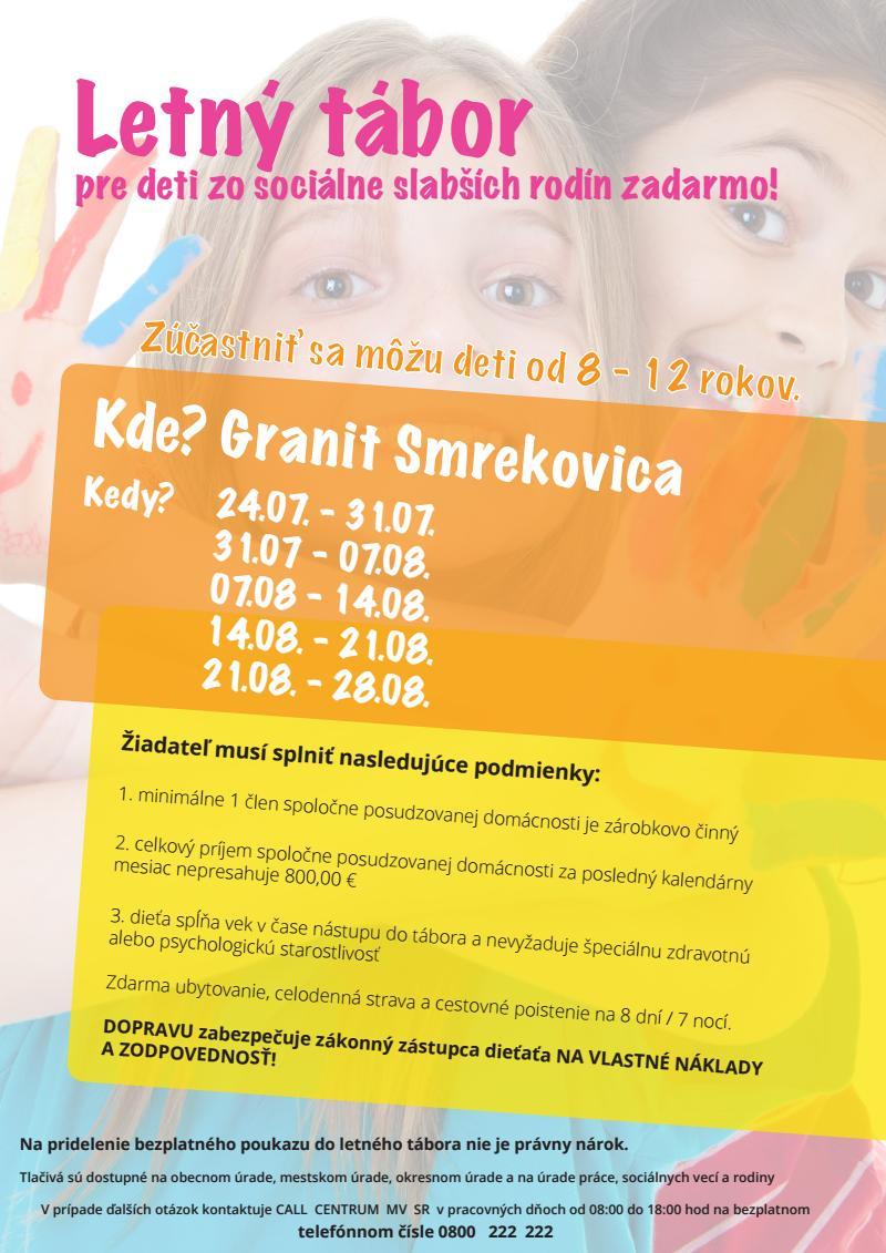 , Mesto Žilina podporuje letné tábory pre deti zo sociálne slabších rodín