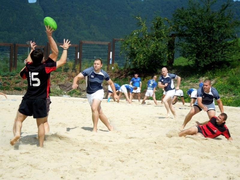, Príďte podporiť svoj tím v plážovom rugby