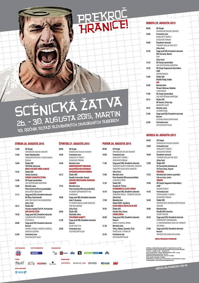 , Scénická žatva 2015: 93. ročník súťaží slovenských divadelných súborov štartuje už o pár dní