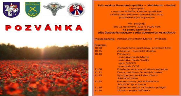 , Deň červených makov a vojnových veteránov