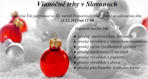 , Vianočné trhy v Slovanoch