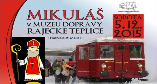 , Mikuláš v Múzeu dopravy v Rajeckých Tepliciach
