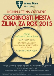 , Nominujte na ocenenie Osobnosti mesta Žilina za rok 2015