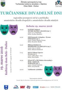, V sobotu sa môžete tešiť na predstavenia turčianskych ochotníkov