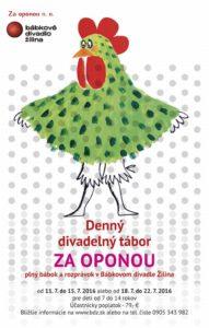 , Denný divadelný tábor Za oponou vBábkovom divadle Žilina!