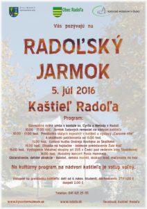 , Radoľský jarmok a koncert Pavla Hammela v kaštieli v Radoli
