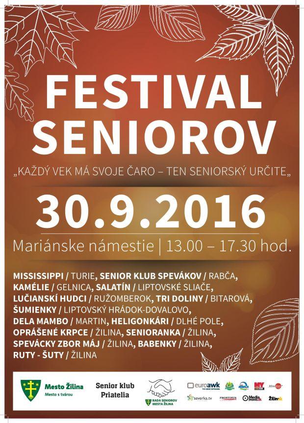 , Festival seniorov už tento piatok v Žiline!