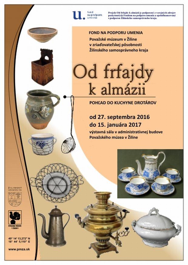 , Výstava Od frfajdy k almázii (pohľad do kuchyne drotárov) v Považskom múzeu v Žiline