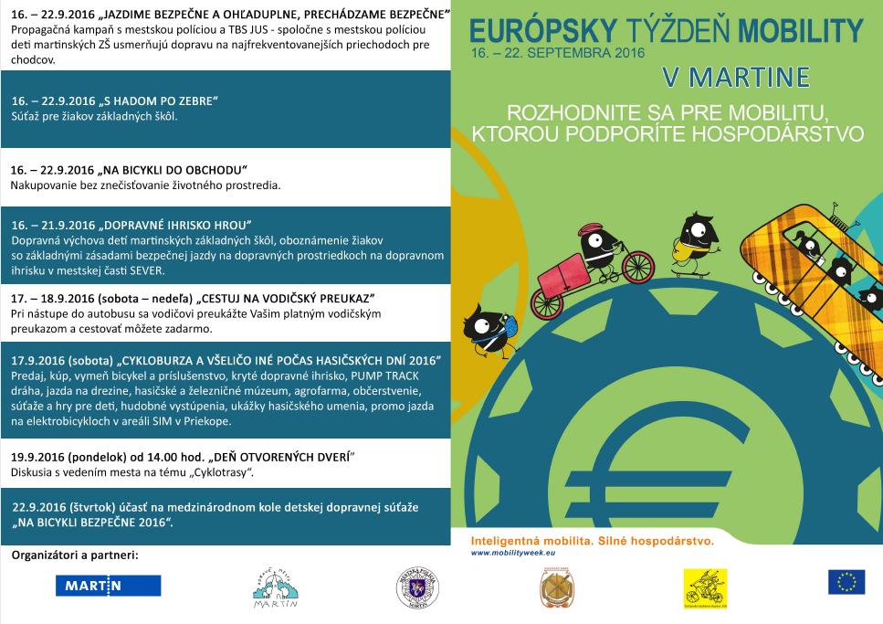 , Počas Európskeho týždňa mobility nechajte svoje auto doma