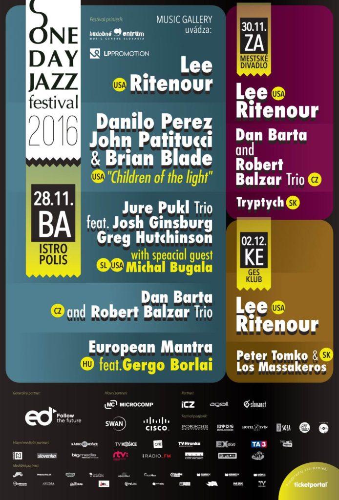 , ONE DAY JAZZ FESTIVAL 2016 V ŽILINE