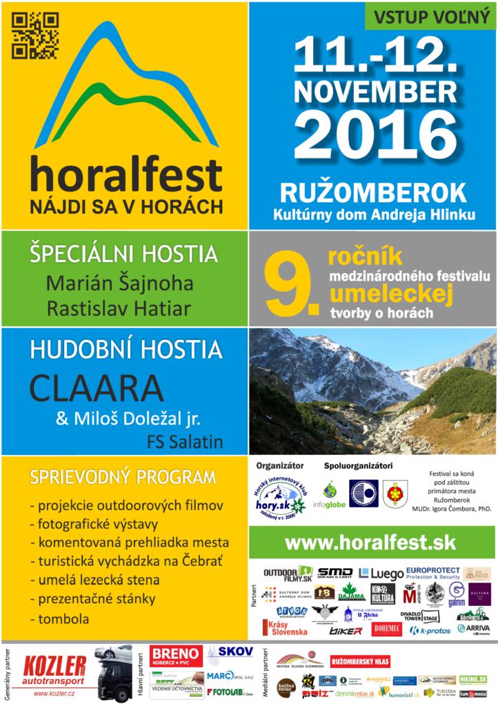 , HORALFEST 2016: Festival umeleckej tvorby o horách