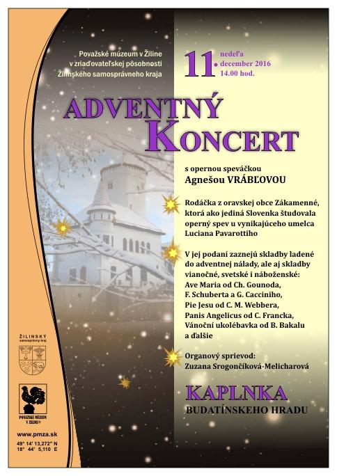 , Adventný koncert: Pavarottiho študentka zaspieva v Budatínskom hrade