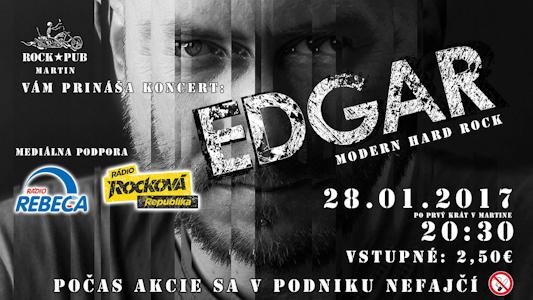 , Koncert rockovej kapely EDGAR po prvýkrát v Martine