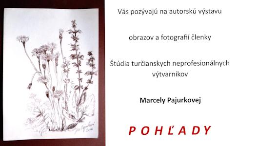 , Autorská výstava výtvarných a fotografických diel Marcely Pajurkovej