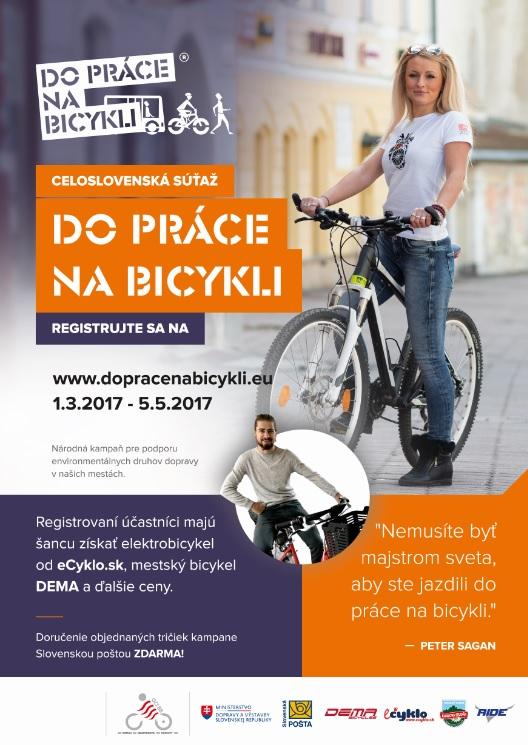 """, Chcete ušetriť a zlepšiť si kondíciu? Prihláste sa do súťaže """"Do práce na bicykli"""""""