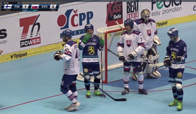 , Lukáš Piják hráčom zápasu Fínsko – Slovensko na MS v hokejbale Pardubice 2017