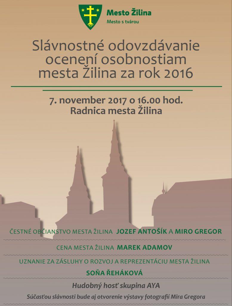 , Mesto Žilina ocení významné osobnosti