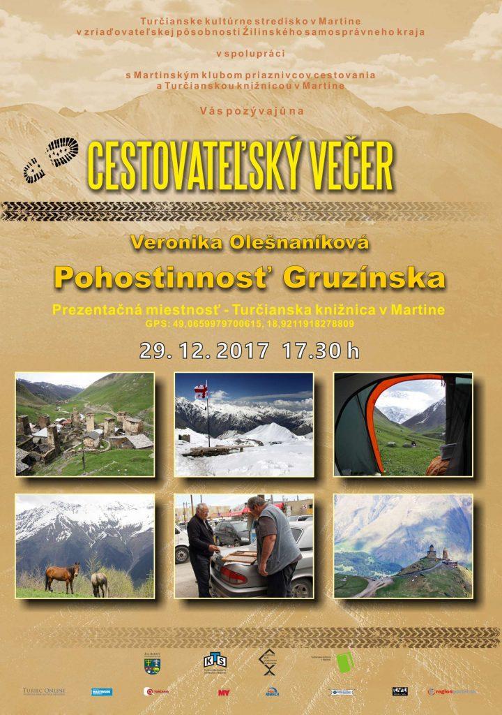 , Vyberte sa na Cestovateľský večer a zažite gruzínsku pohostinnosť