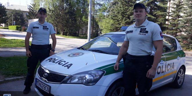 , Horná Štubňa: Policajti zachránili život 22- ročnému mužovi!