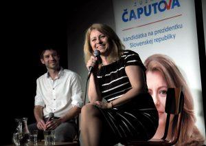 , Kandidátka na prezidentku Zuzana Čaputova, diskutovala v Martine