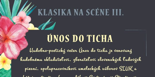 , TKS v Martine prinesie kultúrny Únos do ticha