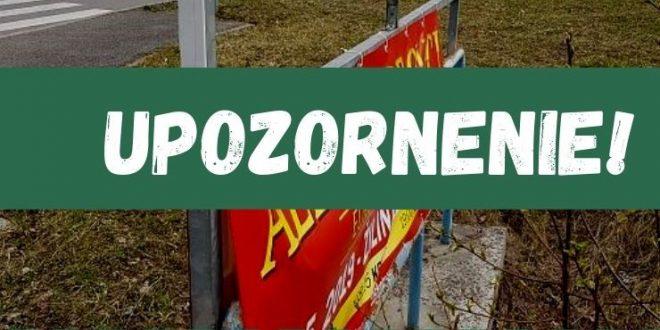 , Mesto Žilina odstráni nelegálne reklamné zariadenia