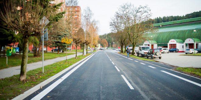, Ulica Športovcov v Dolnom Kubíne je kompletne zrekonštruovaná