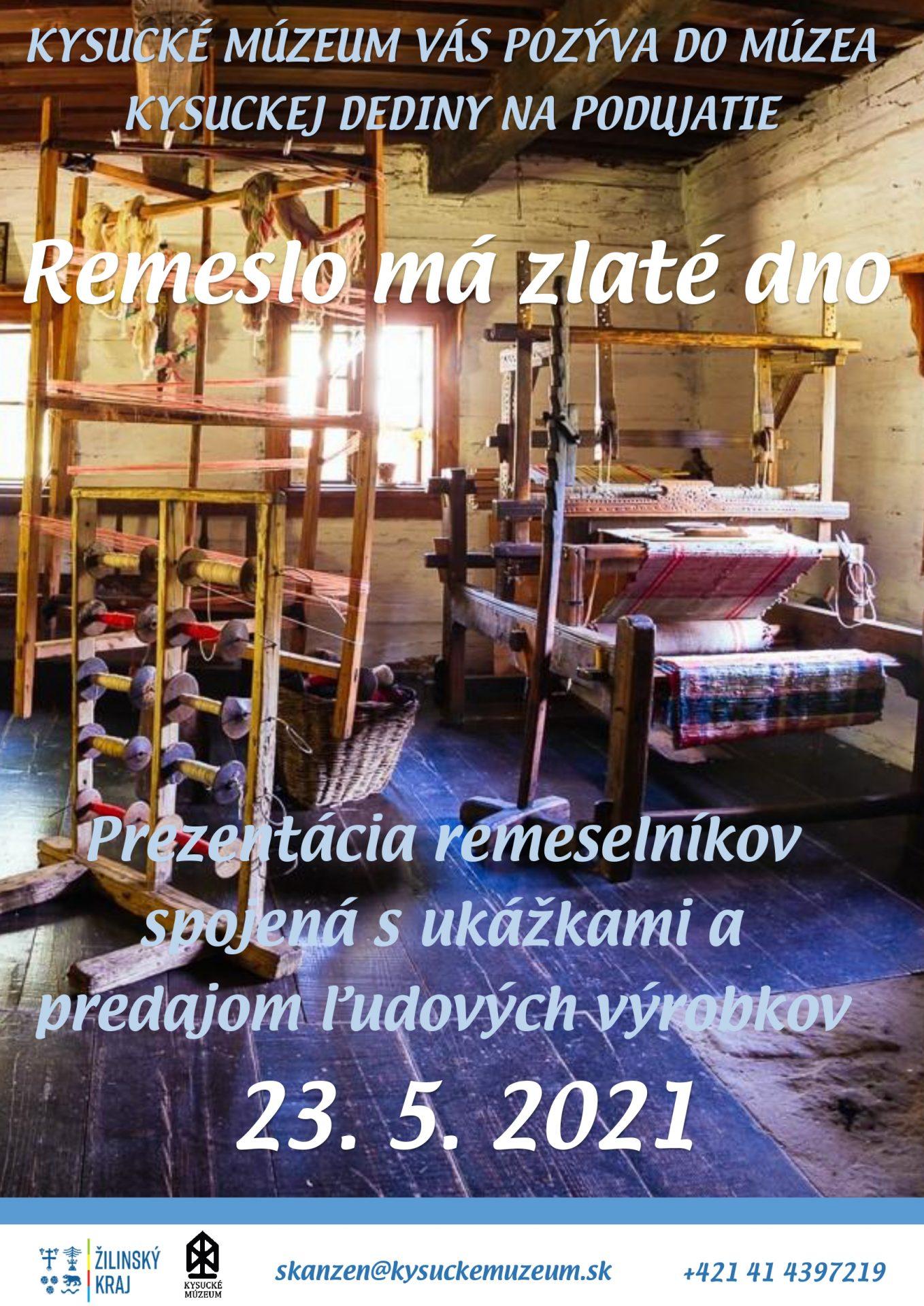 , V Múzeu kysuckej dediny vo Vychylovke sa uskutoční podujatie Remeslo má zlaté dno