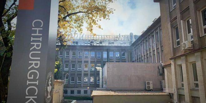 Zhoreny pavilon nemocnice v Ruzomberku